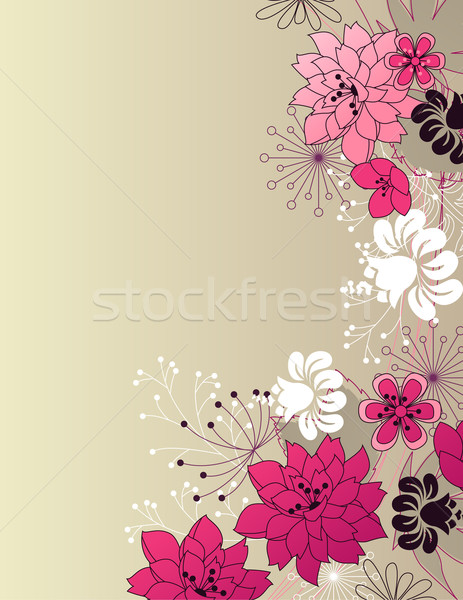 Stylish floral light background Stock photo © nurrka