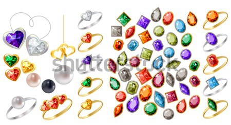 Collection of different jewels Stock photo © nurrka