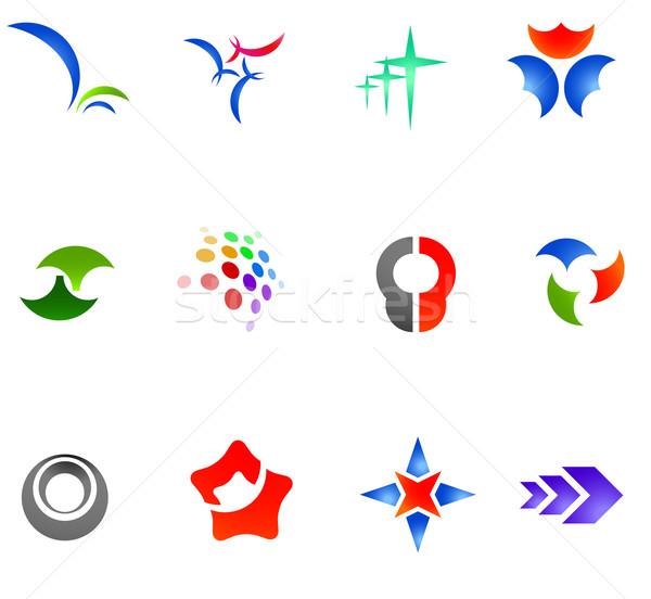 12 カラフル ベクトル シンボル セット 異なる ストックフォト © nurrka