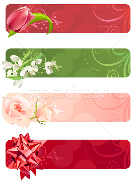 For horizontal spring banners Stock photo © nurrka