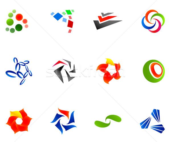 12 カラフル ベクトル シンボル セット 10 ストックフォト © nurrka