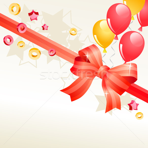 Greeting card with balloons Stock photo © nurrka