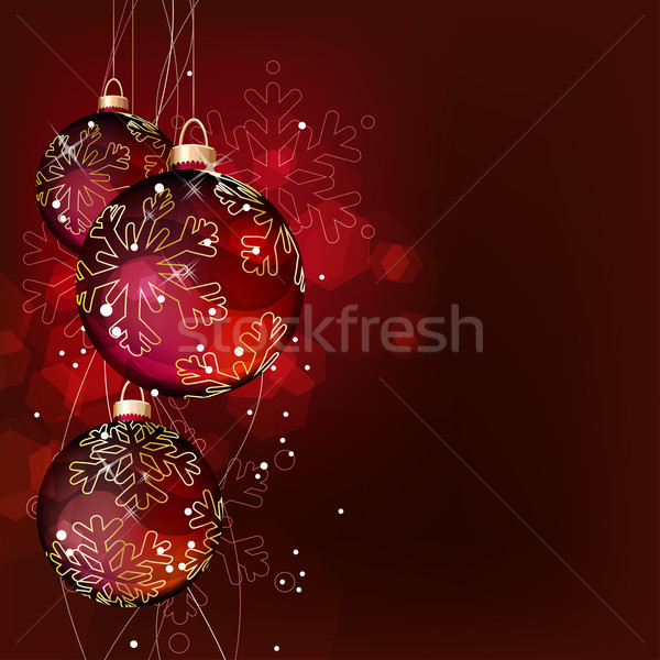 Christmas background with hanging balls Stock photo © nurrka