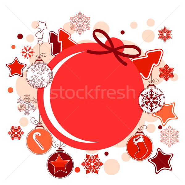 Stock fotó: Karácsony · címke · golyók · csillagok · akasztás · terv