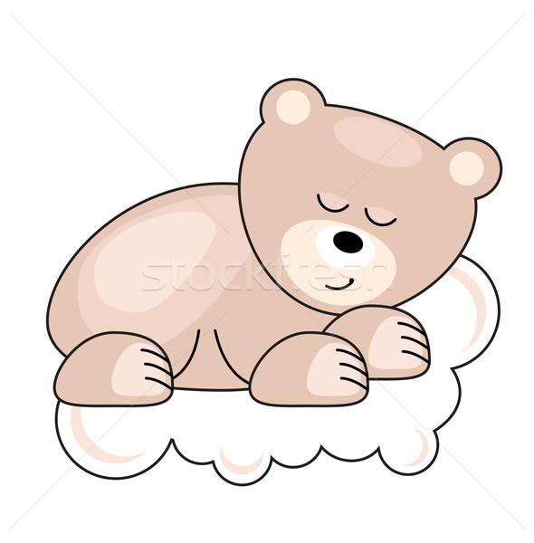 Small bear sleeping Stock photo © nurrka