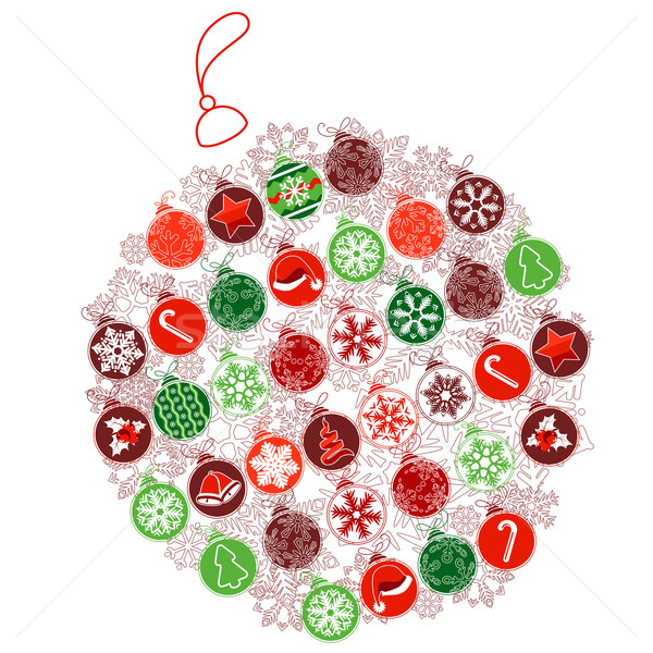 Christmas ball made of small ones Stock photo © nurrka