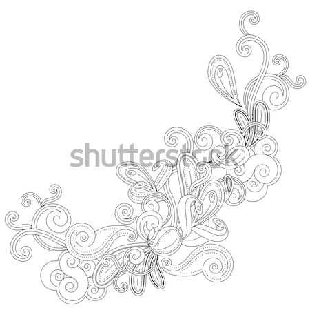 Сток-фото: аннотация · форма · монохромный · белый · цветок