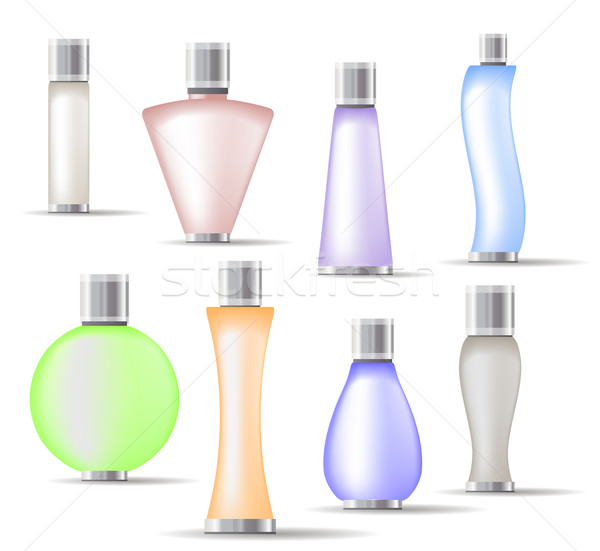 Set of fragrance bottles isolated Stock photo © nurrka