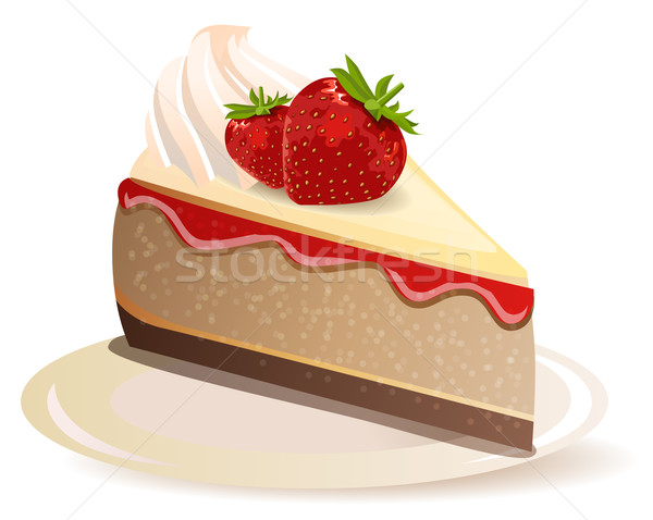 Strawberry cake Stock photo © nurrka