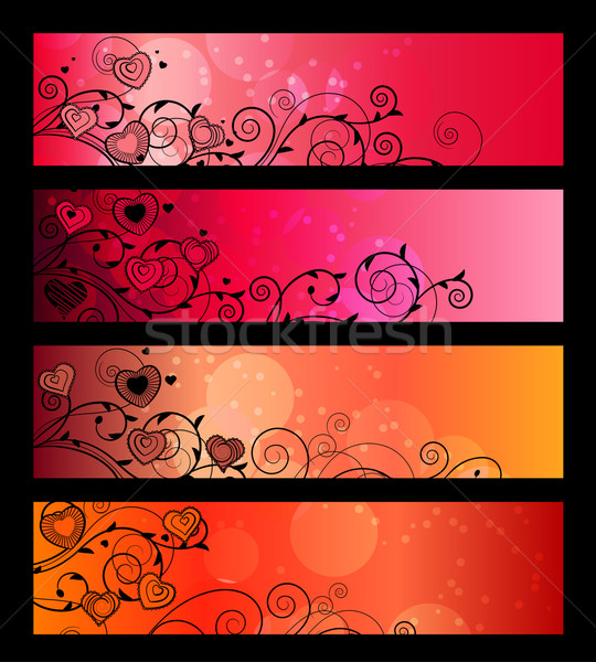 Banners, headers with floral elements Stock photo © nurrka