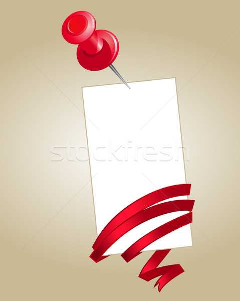 Blank note paper with pin Stock photo © nurrka