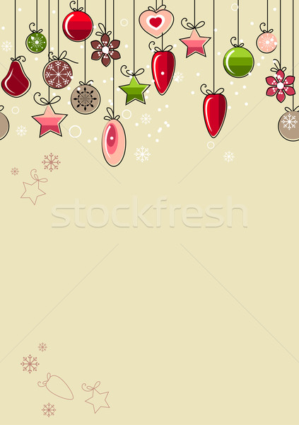 Christmas background with contour balls Stock photo © nurrka