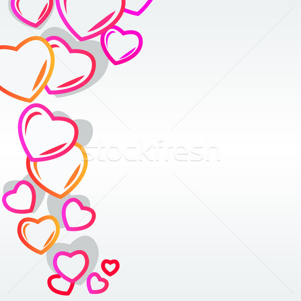 Stock photo: Background with modern hearts