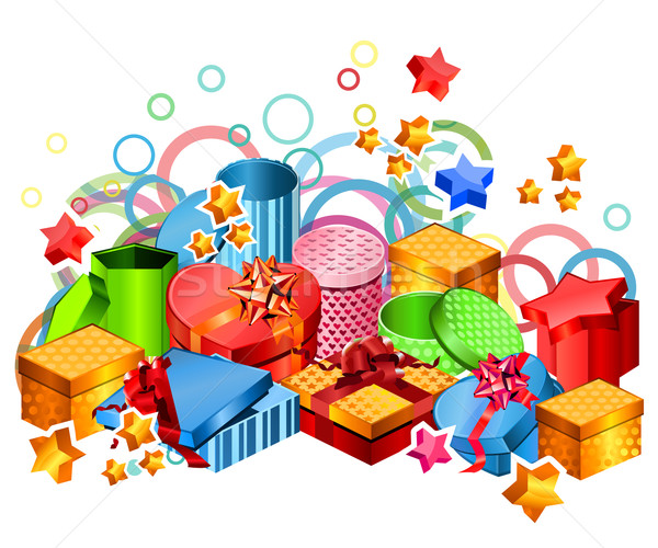 Modern gift boxes Stock photo © nurrka