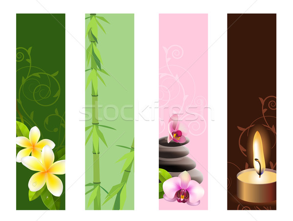 Vertical spa banners Stock photo © nurrka