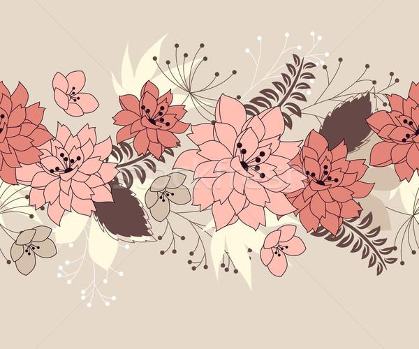 Stok fotoğraf: Sınır · orman · çiçekler · bitkiler · pastel