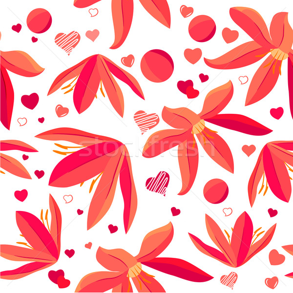 Seamless pattern with spring flowers Stock photo © nurrka