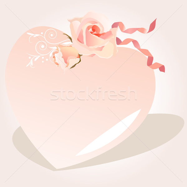 Delicate heart-shaped frame Stock photo © nurrka