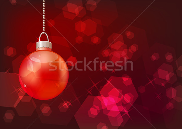 Bright sparkling background with hanging ball Stock photo © nurrka
