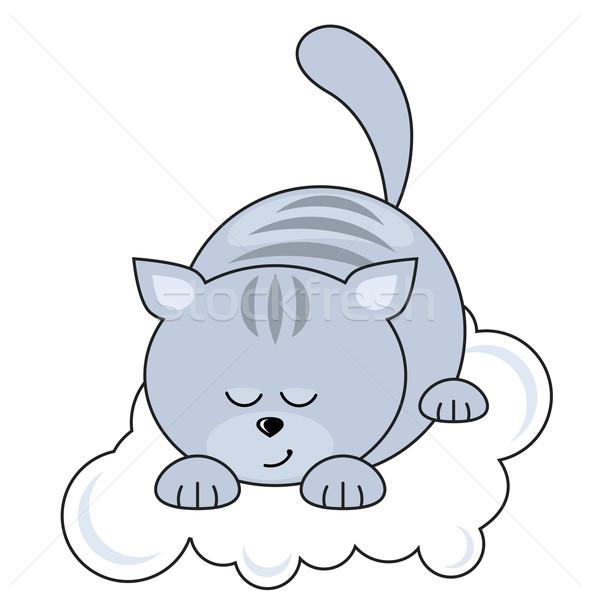 Small cat sleeping Stock photo © nurrka