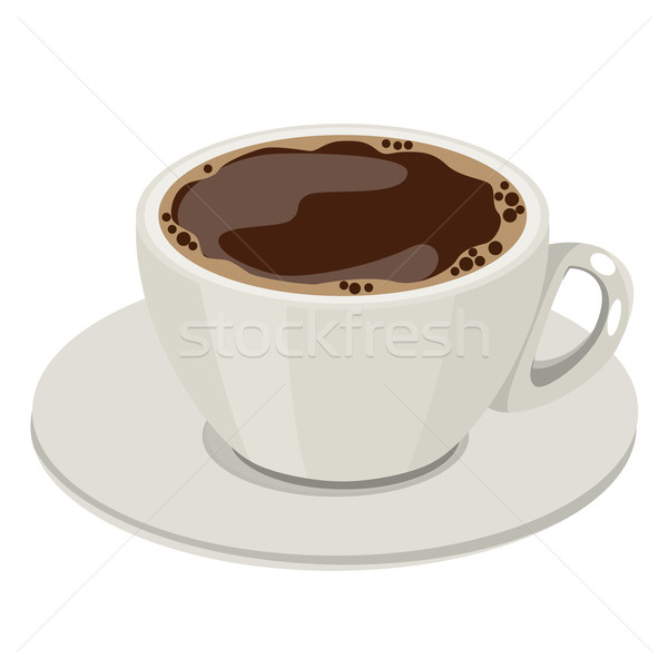 Fincan sıcak kahve fincanı kahve restoran Stok fotoğraf © nurrka