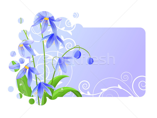 Light blue frame with spring flower Stock photo © nurrka