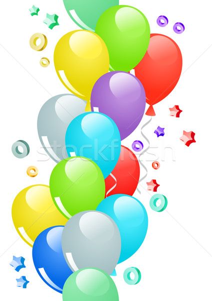 Seamless border with balloons Stock photo © nurrka