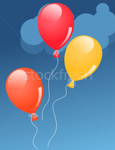 Three baloons in sky Stock photo © nurrka
