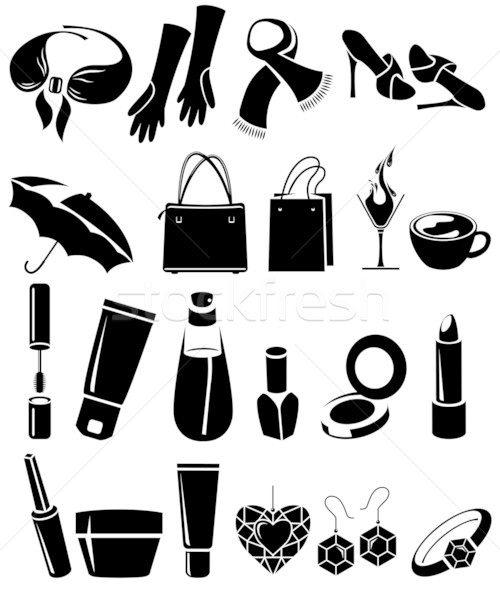 Set of different woman's things Stock photo © nurrka