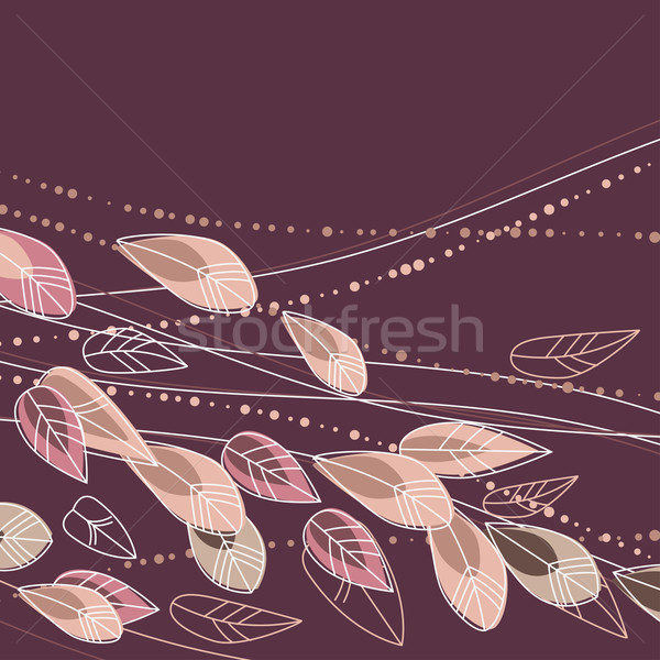 Floral background with stylized flowers Stock photo © nurrka