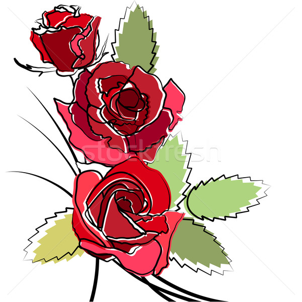 Stylized simple roses Stock photo © nurrka