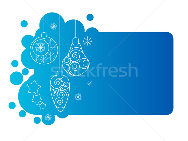 Blue christmas frame with decorations Stock photo © nurrka