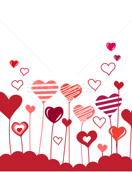 Background with growing hearts Stock photo © nurrka