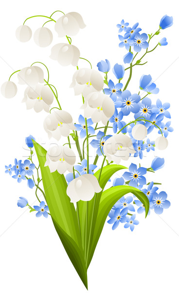 Bunch of lilies of the valley Stock photo © nurrka