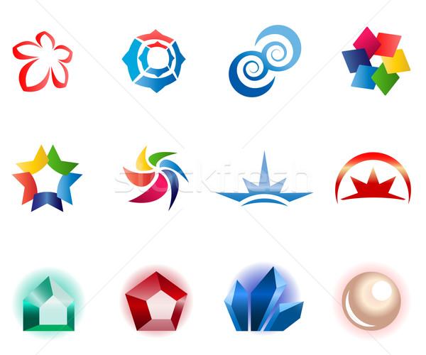 12 colorido vetor símbolos conjunto diferente Foto stock © nurrka