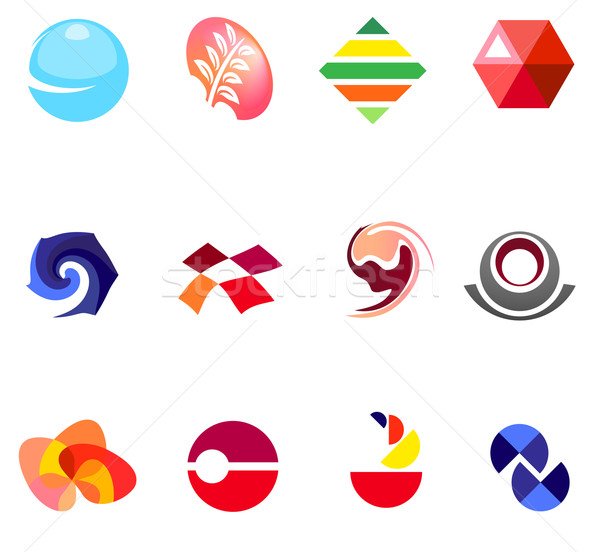 12 colorido vetor símbolos conjunto 22 Foto stock © nurrka