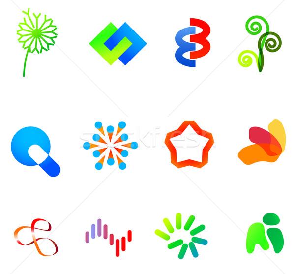 12 colorido vector símbolos establecer diferente Foto stock © nurrka