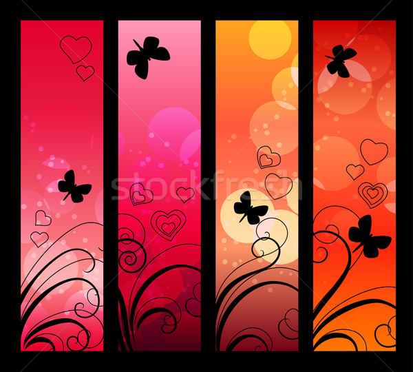 Banners, headers with abstract lights. Stock photo © nurrka