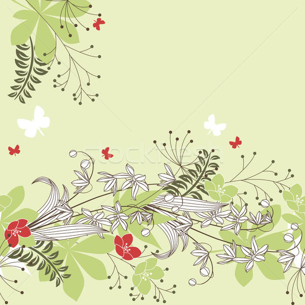 Seamless horisontal floral pastel pattern Stock photo © nurrka