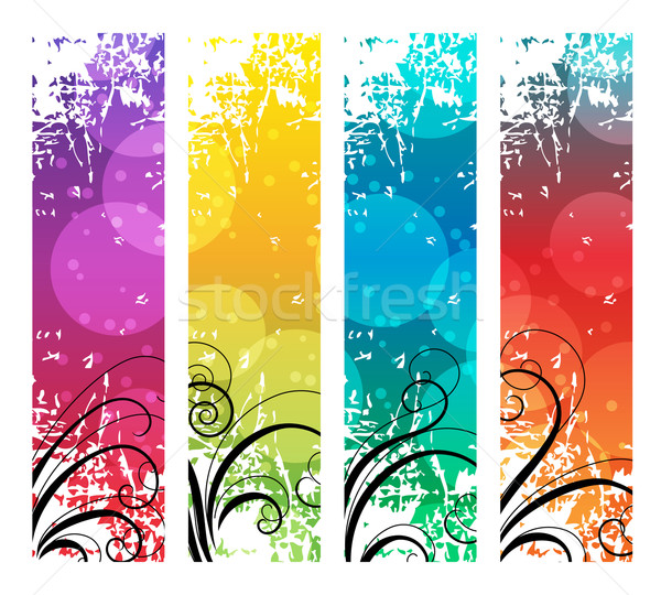 Four abstract vertical banners Stock photo © nurrka