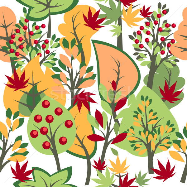 Stock photo: Seamless pattern with trees