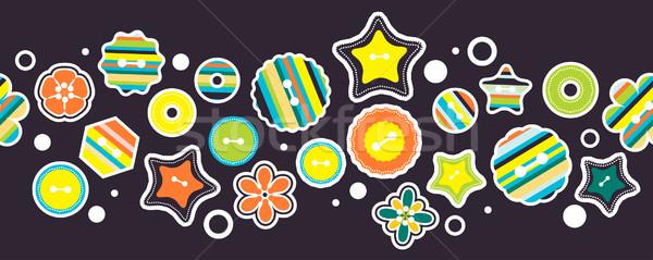 Puéril horizontal frontière stylisé étoiles Photo stock © nurrka