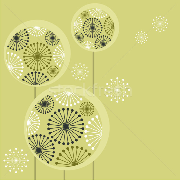 Stock photo: Beautiful stylized dandelions