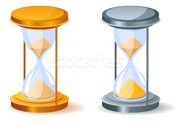 Realistic sandglass. Two variants of color. Stock photo © nurrka