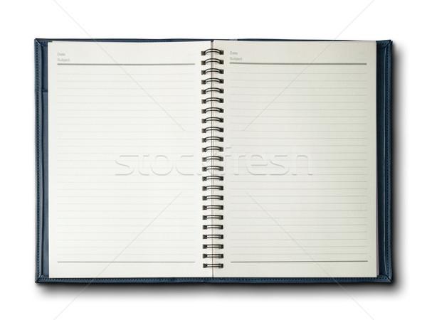 Blauw dekken notebook witte business textuur Stockfoto © nuttakit