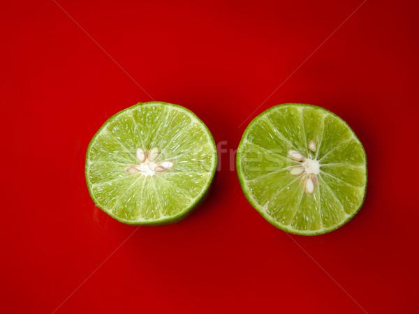 Kalk groene twee half drop grond Stockfoto © nuttakit
