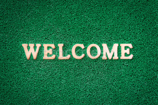 Welcome Text on Green Stock photo © nuttakit