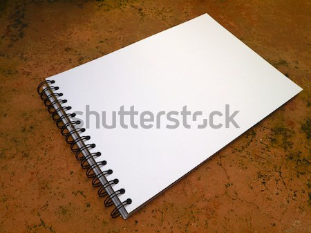 Perspective white sketchbook Stock photo © nuttakit