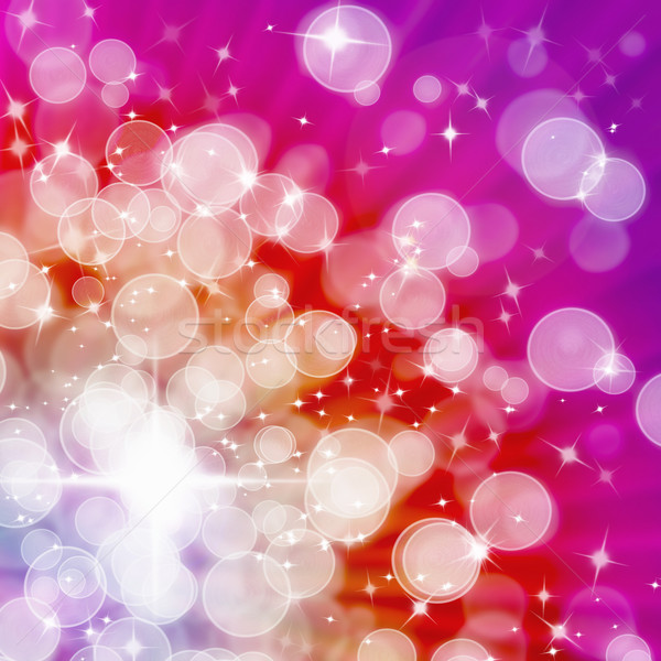 Abstract of Hot tone Aura White bokeh Stock photo © nuttakit