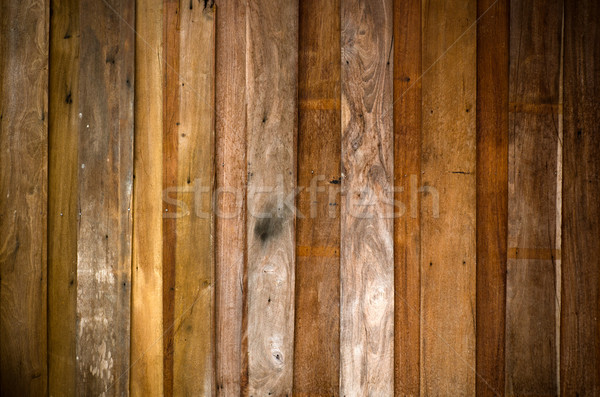 Oude plank hout muur textuur gebouw Stockfoto © nuttakit
